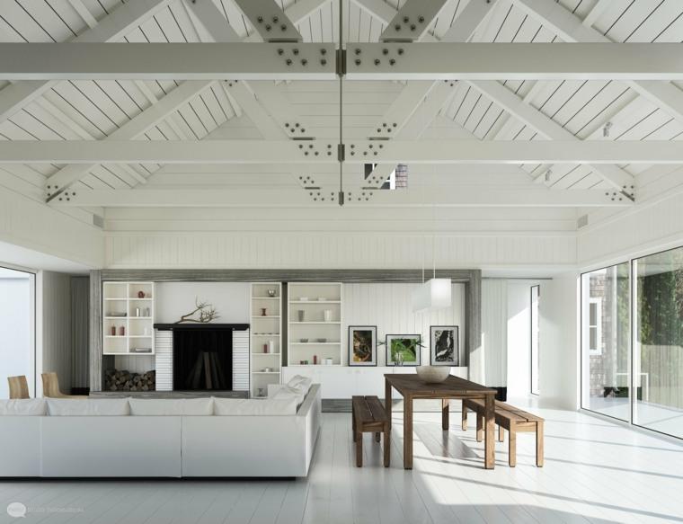 interiores modernos color salones blanco
