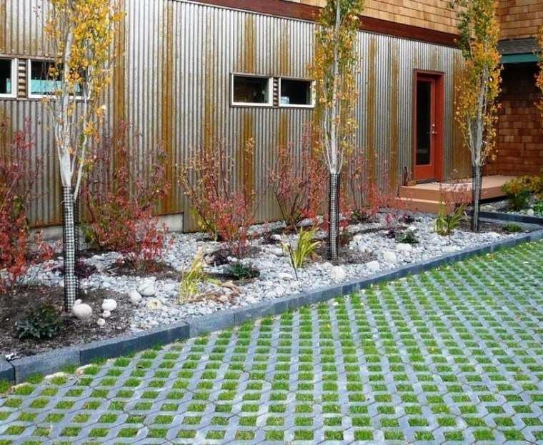 Casa jard n y dise os inspiradores para el exterior - Jardines con piedras blancas ...