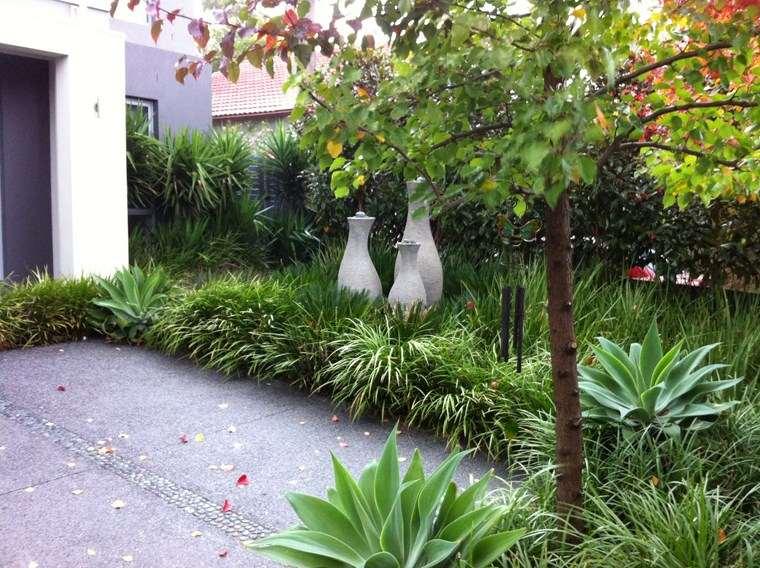 jardin diseno contemporaneo hierbas detalles decorativos ideas