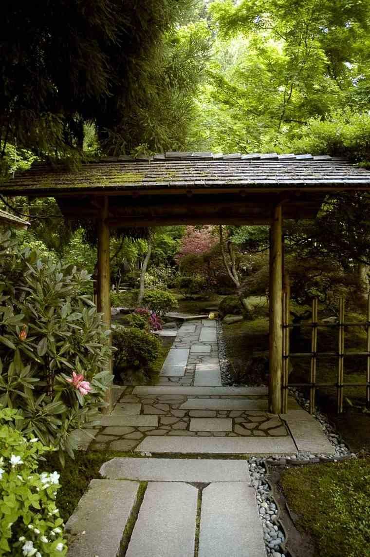 jardin japones moderno entrada casa ideas
