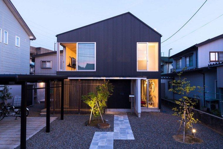 jardin japones moderno residencia diseno ideas