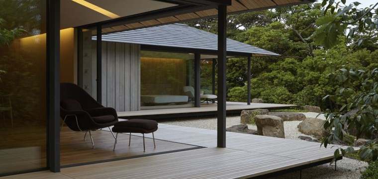 jardin japones moderno terraza madera ideas