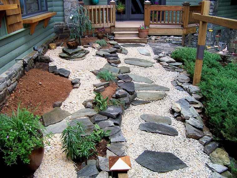 jardin trasero diseno japones moderno ideas