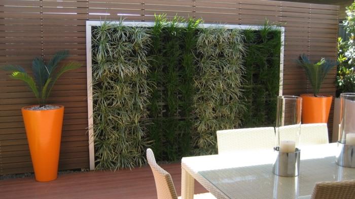 jardin vertical plantas comedores exteriores maceteros