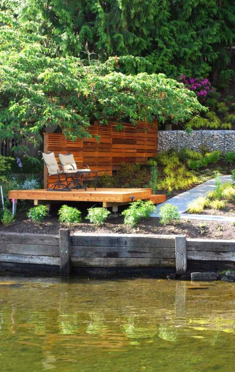 Gaviones decorativos para patios y jardines 34 ideas for Jardines lujosos