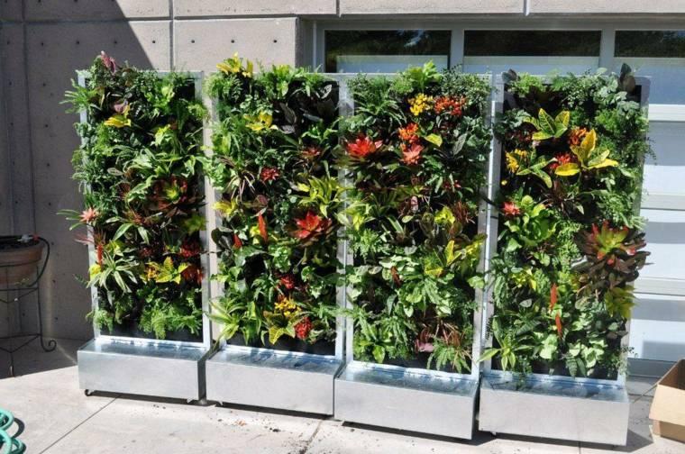 Ideas para jardines verticales veinticuatro dise os - Jardin vertical terraza ...