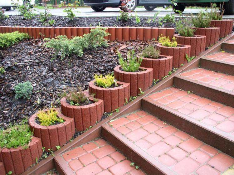 jardineria hormigon escalones definiciones plantas