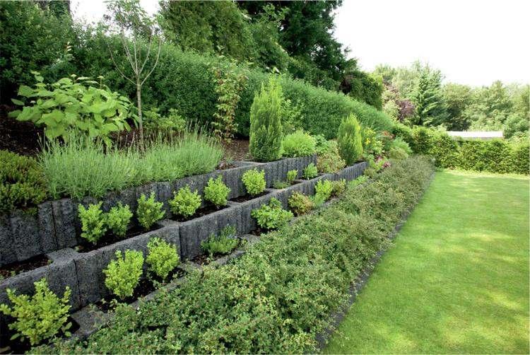 jardineria hormigon estantes bloques hormigon