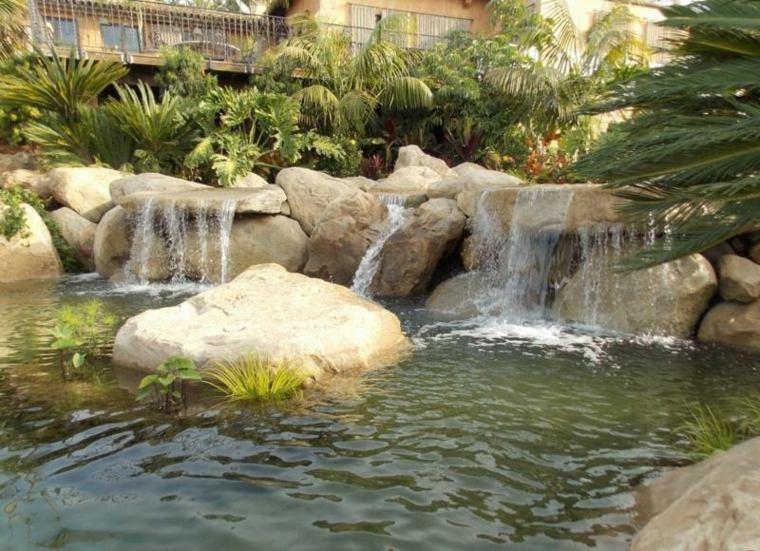 jardines cascadas balcones lagunas vegetacion