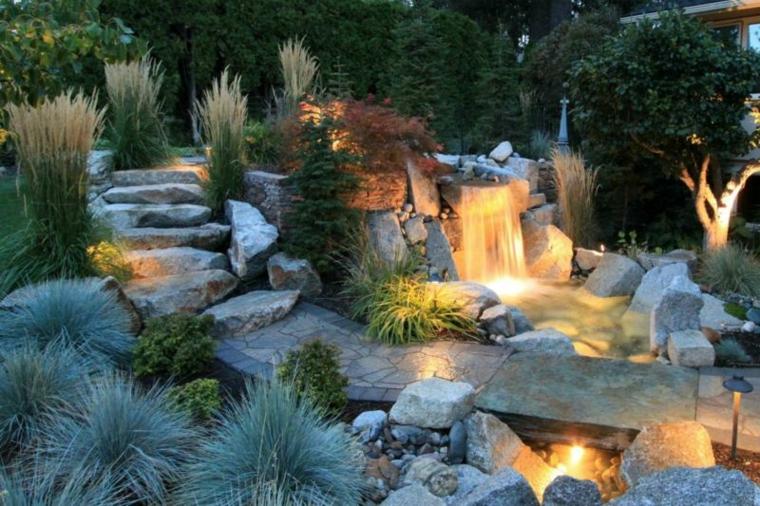 Jardines cascadas en 42 incre bles ideas creativas for Cascadas de jardin