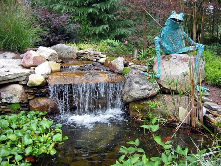 Jardines cascadas en 42 incre bles ideas creativas for Estanque cascada