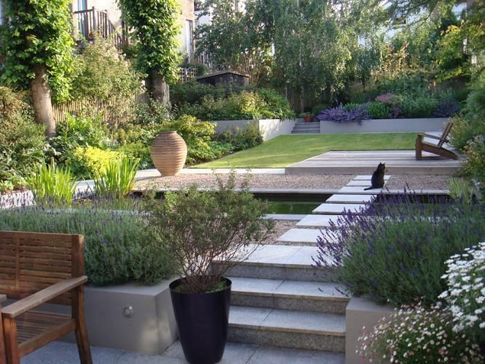 Jardines detalles modernos para un paisajismo elegante - Bordes para jardines ...