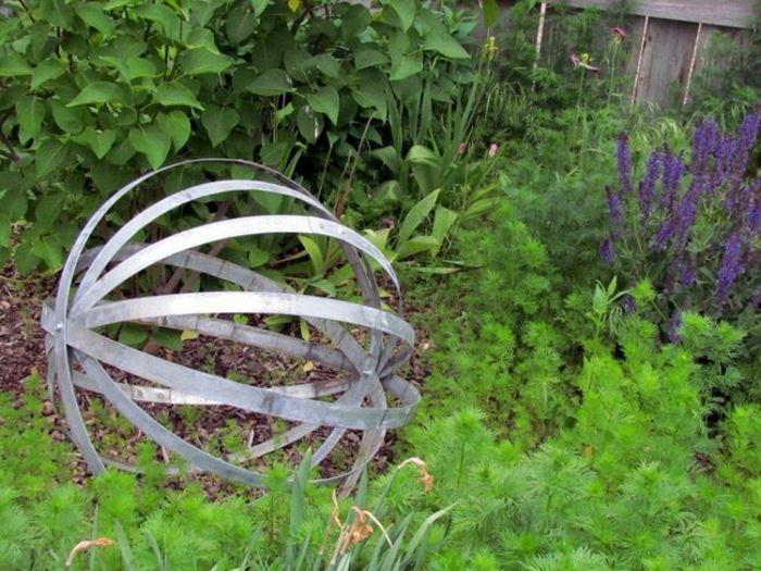 jardines esfera metalicas ambientes escultura