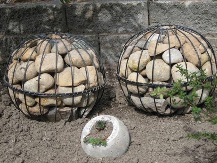 jardines esfera rocas encerradas comnbinaciones