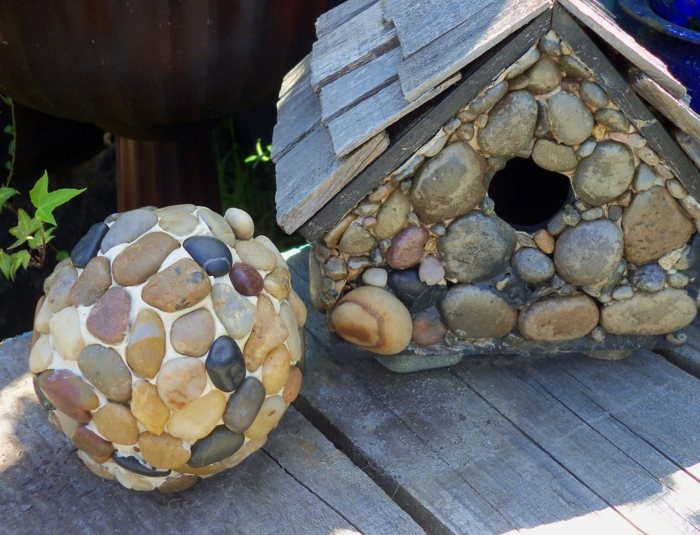 jardines esfera rocas especiales muestras artificiales