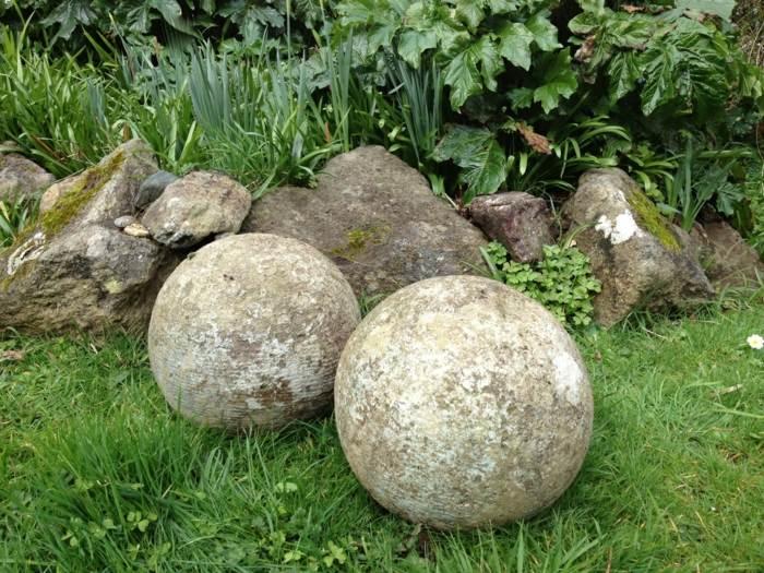 jardines esfera simples decorados texturas