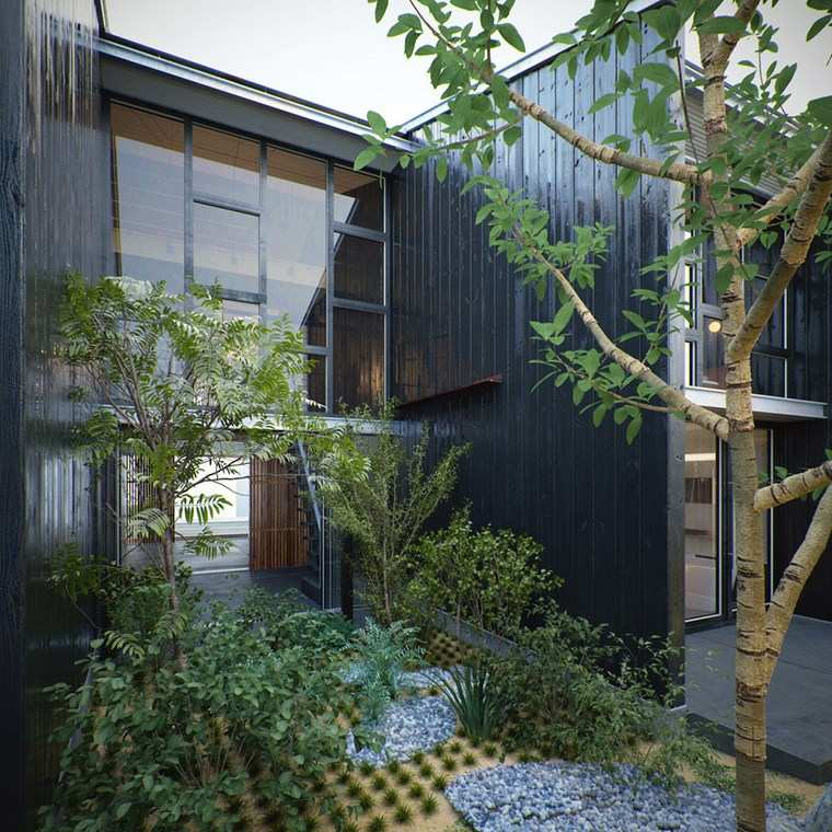 jardines japoneses modernos casa diseno contemporaneo ideas