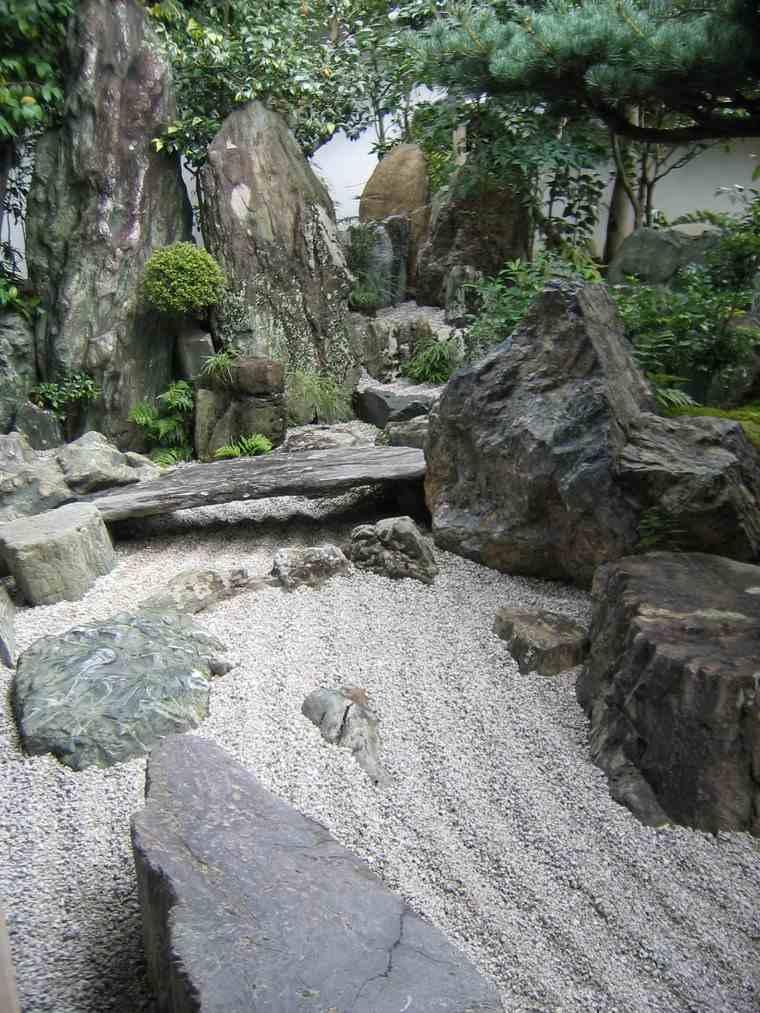 jardines japoneses modernos piedras grandes ideas