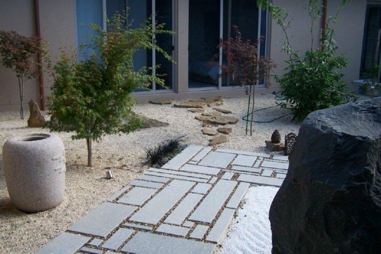 jardines piedras agua bebederos estilos