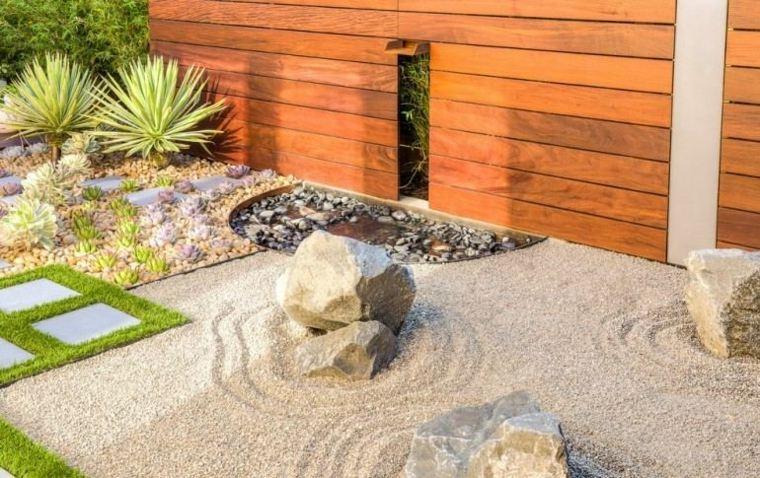 jardines piedras arenas rocas muebles muros