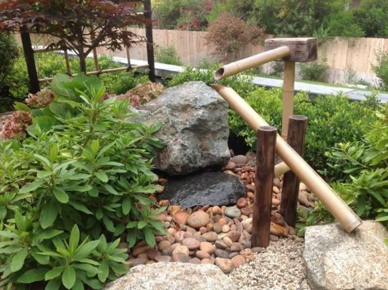 jardines piedras bambu piezas frescas