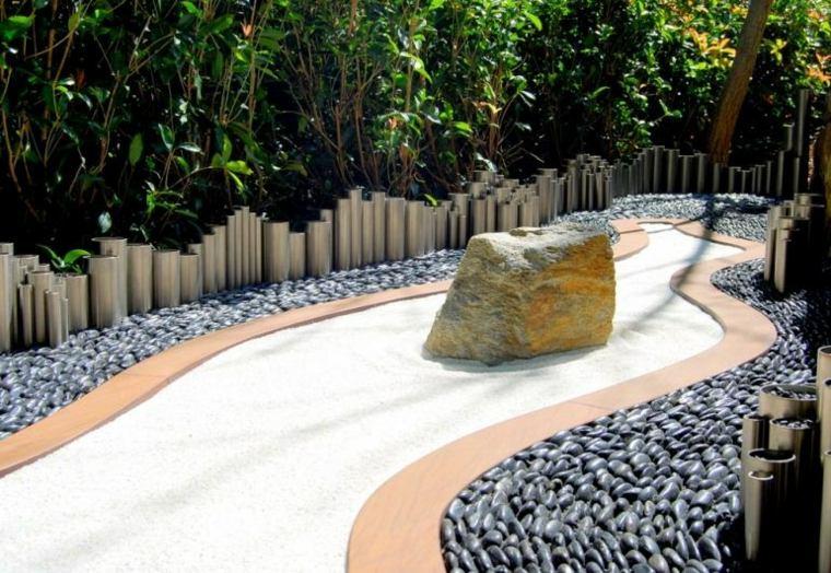jardines piedras efectos muebles salas metales