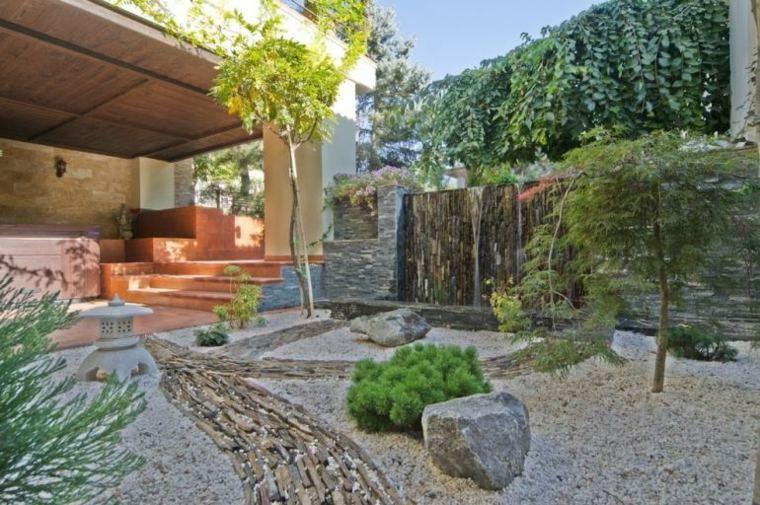 jardines piedras efectos muebles tendidos arbole