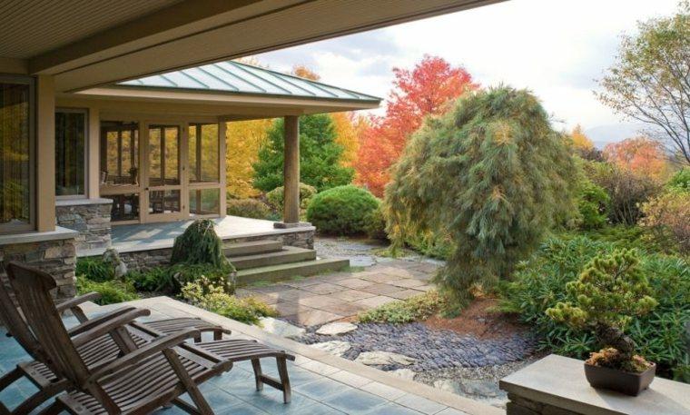jardines piedras macetas especiales muebles