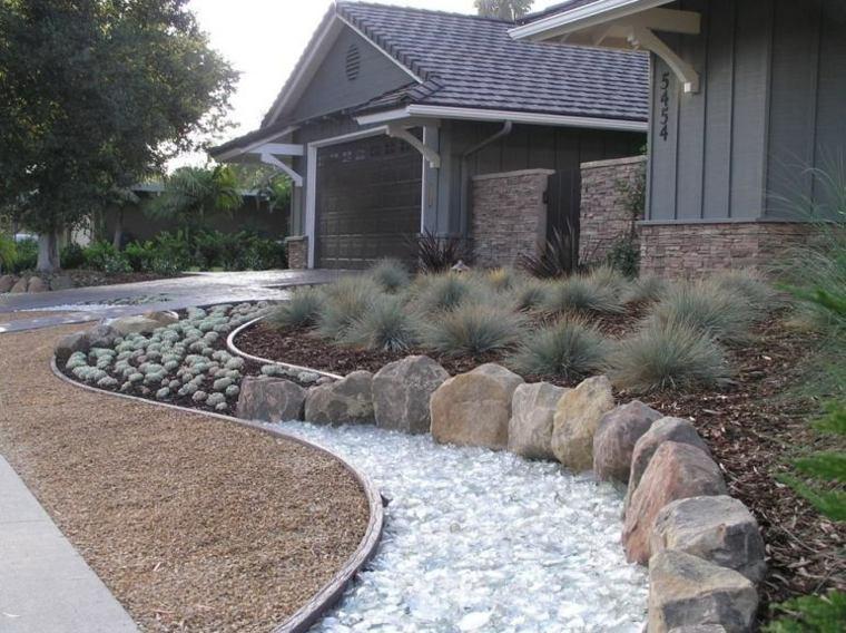 jardines piedras muros especiales sillones flores