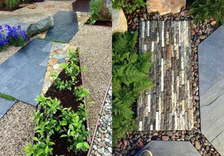 jardines piedras pequenas flores plantas coloridos