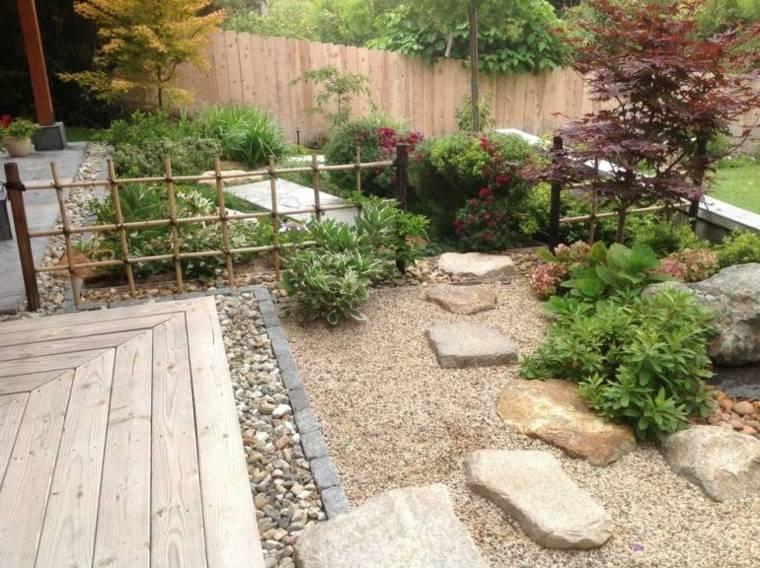 jardines piedras plataformas elementos senderos
