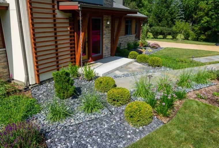 jardines piedras verdes aspectos casa
