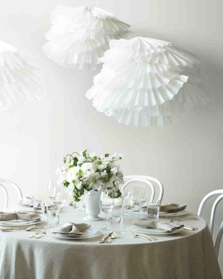 jarron blanco centros mesa sencillos bodas ideas