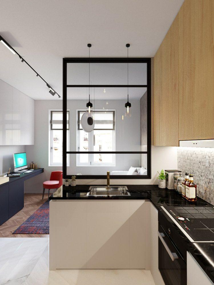 lados cocinas estilos muebles separadores