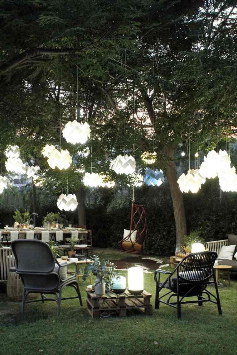 Decoraci n rom ntica y moderna para jard n y terraza for Lamparas para el jardin