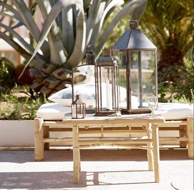 lamparas metales cristales jardines cactus