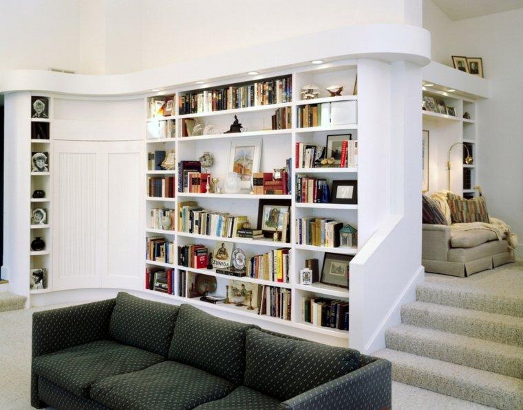 librerias integradas paredes estantes