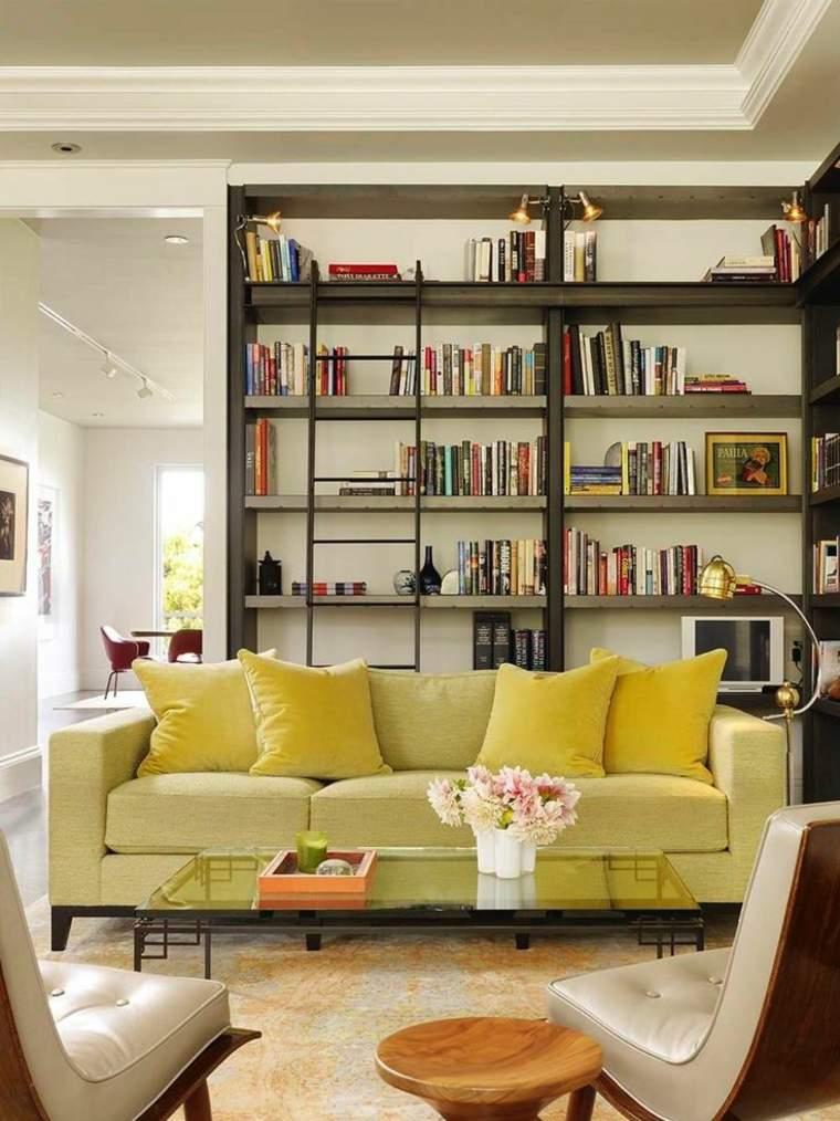 estupendas librerias para salón