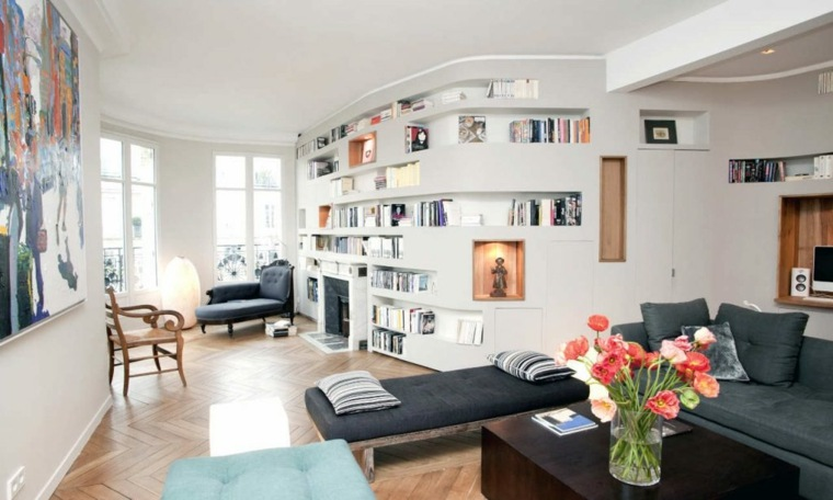 Librerias para sal n 48 fotos que lograr n inspirarte - Librerias salon ...