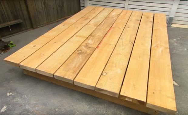 cama exterior efectos sencillos maderas