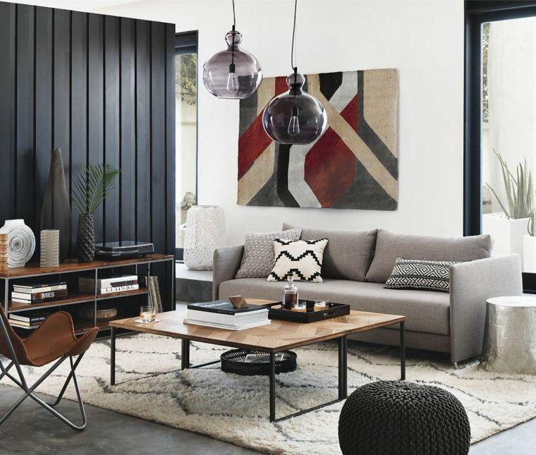 madera pared interior color negro