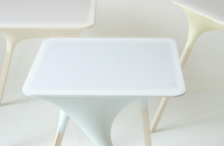 mesa agua elegantes claras azules