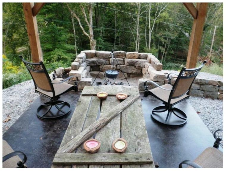 mesa colgante tabla madera