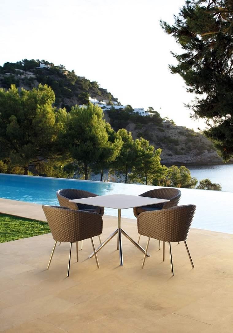 mesa exterior comedor aire libre diseno moderno
