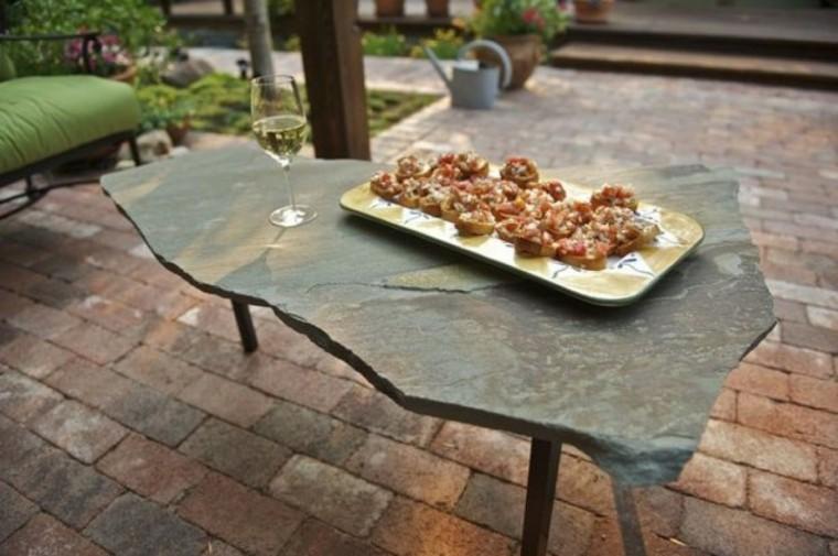 mesa original diseño bloque piedra