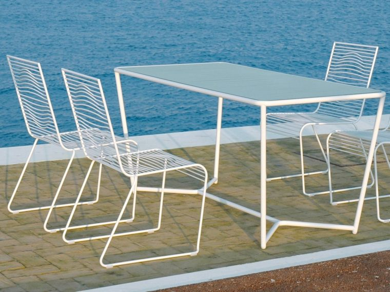 mesa original disenos aptos jardin acero blanco ideas