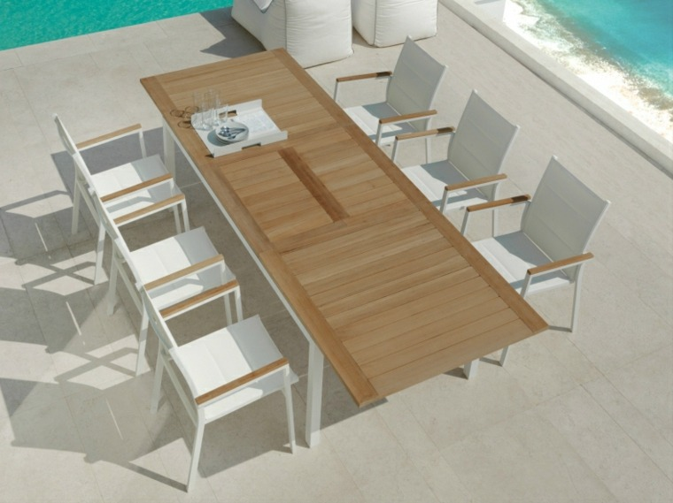 mesa original disenos aptos jardin sillas blancas ideas