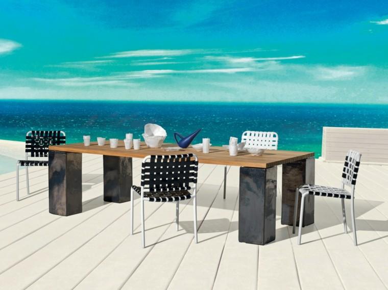 mesa original disenos aptos jardin sillas negras ideas
