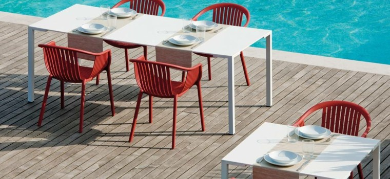 mesa original disenos aptos jardin sillas rojas ideas
