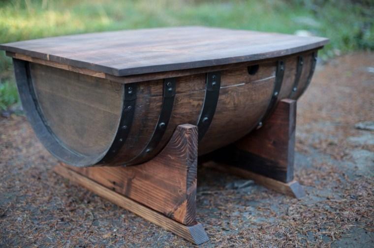 mesa original medio barril vino